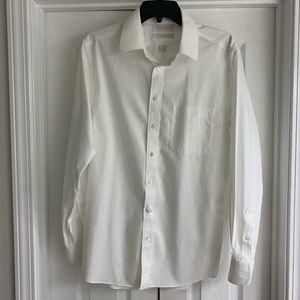 Roundtree & Yorke Slim Fit White Dress Shirt 16/33